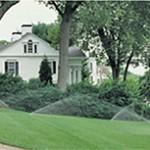 Front lawn sprinkler system