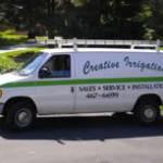 Creative Irrigation Long Island service truck